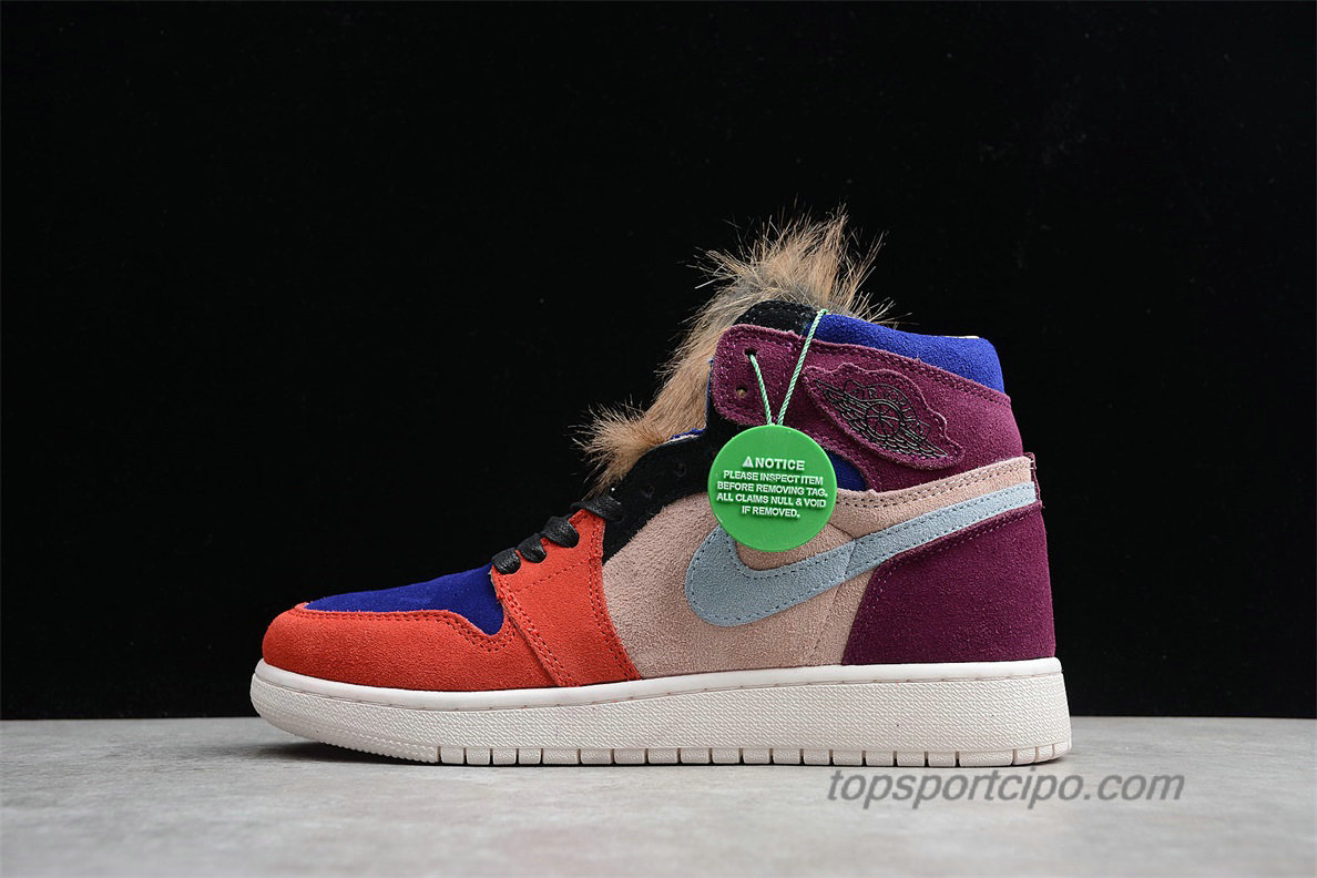 Air Jordan 1 Court Lux High OG Aleali May Unisex Cipő BV2613-600 (Piros / Kék / Bordeaux)