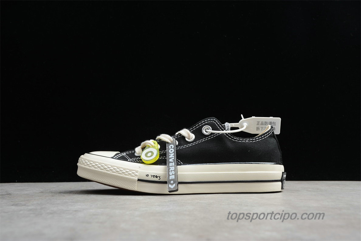 Converse Chuck Taylor All Star 70 Low Unisex Cipő 162058C (Fekete)