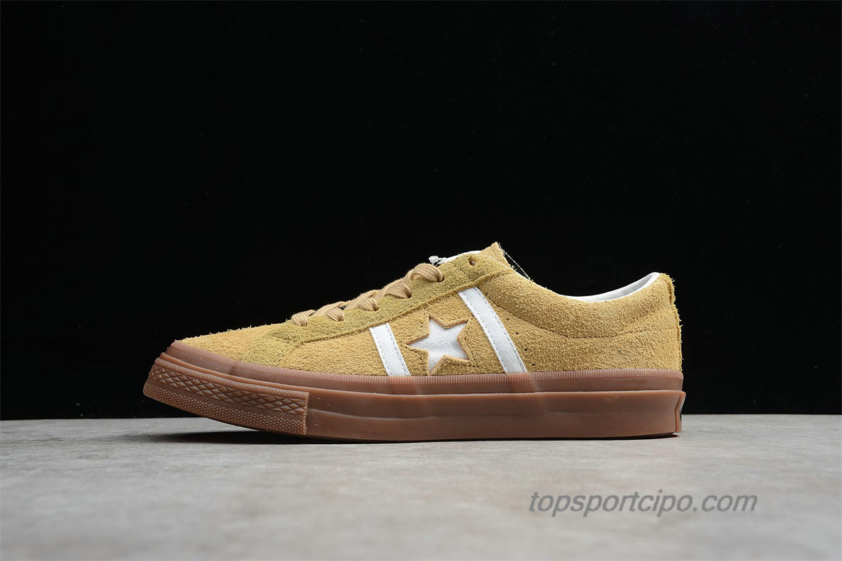 Converse Star And Bars Suede GM Low Unisex Cipő 1CL257 (Khaki)