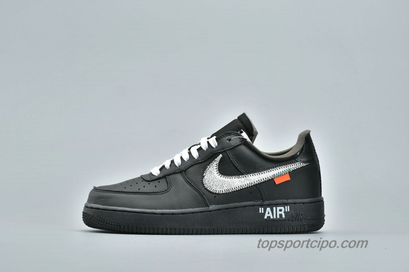 Off-White Nike Air Force 1 Low 07 VIRGIL x MOMA Unisex Cipő AV5210-001 (Fekete)