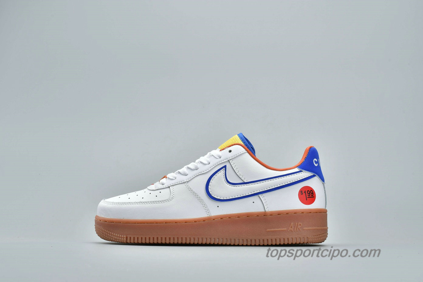 Nike Air Force 1 Low UPSTEP WONDER BREAD Unisex Cipő 653774-660 (Fehér / Kék)